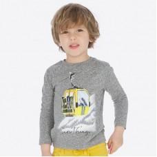 Футболка Mayoral(Майорал) для мальчика серого оттенка