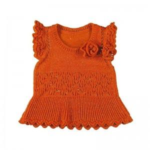 Жилет на девочку Mayoral (Майорал) оранжевого оттенка