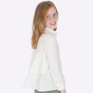 Блузка на девочку Mayoral (Майорал) молочного оттенка