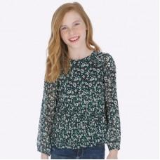 Блузка на девочку Mayoral (Майорал) зеленых оттенков