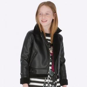 Куртка-косуха на девочку Mayoral (Майорал)темного оттенка
