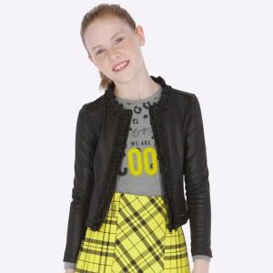 Пиджак на девочку Mayoral (Майорал) черно оттенка