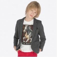 Пиджак на мальчика Mayoral (Майорал) серого оттенка