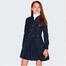 Платье на девочку Mayoral (Майорал) джинсового оттенка