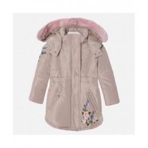 Куртка-парка на девочку Mayoral (Майорал) бежевый оттенок