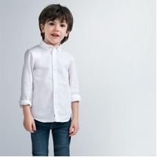 Рубашка на мальчика  Mayoral(Майорал) молочного оттенка