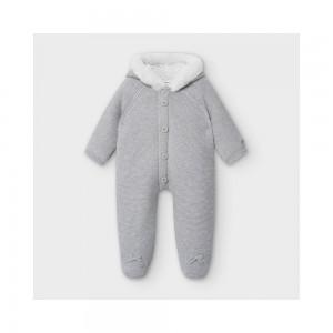 Трикотажный комбинезон для новорожденного Mayoral (Майорал) серый оттенок
