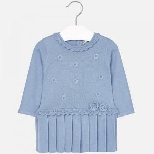 Платье трикотажное на девочку Mayoral (Майорал) голубого оттенка