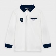 Рубашка-поло на мальчика Mayoral (Майорал) молочный оттенок
