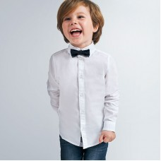 Рубашка с бабочкой на мальчика  Mayoral (Майорал) молочного оттенка