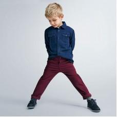 Джинсовая рубашка для мальчика  Mayoral (Майорал) синего оттенка