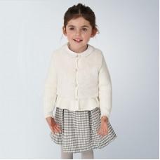 Жакет вязанный для девочки Mayoral (Майорал) молочного оттенка