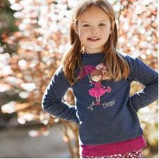Пуловер на девочку Mayoral (Майорал) для девочки синего оттенка