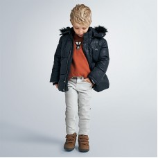 Куртрка зимняя на мальчика Mayoral (Майорал) синего оттенка