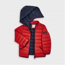 Куртка демисезонная на мальчика Mayoral вишневого оттенка