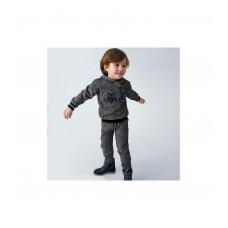 Брюки с трикотажным поясом на мальчика Mayoral (Майорал) серого оттенка