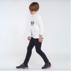 Вельветовые брюки Mayoral (Майорал) для мальчика темного оттенка