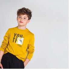 Лонгслив на мальчика Mayoral (Майорал) желтого оттенка