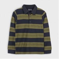 Рубашка-поло на мальчика Mayoral (Майорал) оливкового оттенка