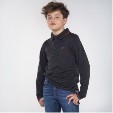 Рубашка-поло на мальчика Mayoral (Майорал)  серій меланж