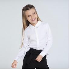 Блузка oversize на девочку Mayoral (Майорал) молочного оттенка