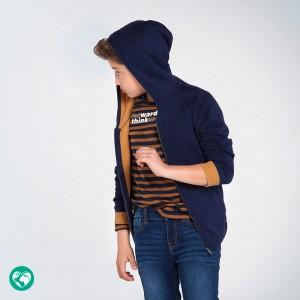 Кардиган с капюшоном Mayoral (Майорал) для мальчика синего оттенка