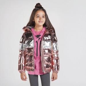 Демисезонная куртка на девочку  Mayoral (Майорал) пудрового  оттенка