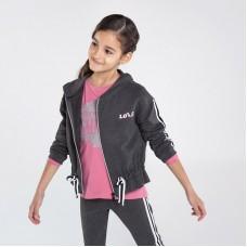 Спортивная кофта на девочку Mayoral (Майорал) серого оттенка