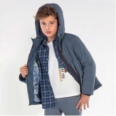 Демисезонная куртка на мальчика  Mayoral (Майорал) серо-голубой оттенок