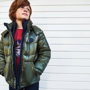 Куртрка зимняя на мальчика Mayoral (Майорал) оливкового оттенка