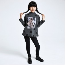 Трикотажный костюм на девочку Mayoral (Майорал) серый оттенок