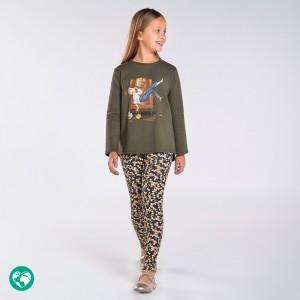 Комплект трикотажный на девочку Mayoral (Майорал)  зеленый оттенок