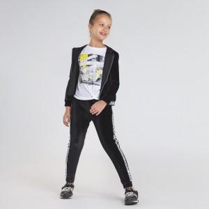 Спортивный костюм на девочку Mayoral (Майорал) черного оттенка