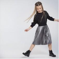 Плиссированная юбка на девочку Mayoral (Майорал) серый оттенок