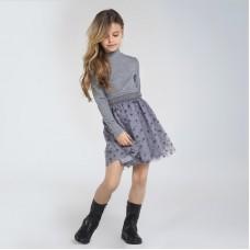 Платье на девочку Mayoral (Майорал) серого  оттенка