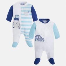 Набор из двух  человечек с длинными рукавами для новорожденных Мayoral.