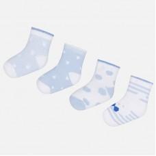 Комплект носков для новорожденного с принтом