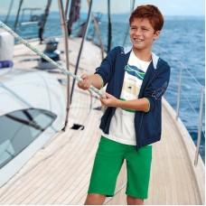 Шорты Basic Mayoral (Майорал) для мальчика зеленого оттенка