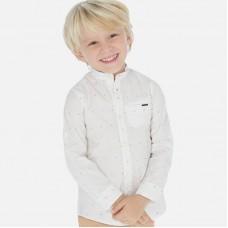 Рубашка Mayoral (Майорал) для мальчика белого оттенка