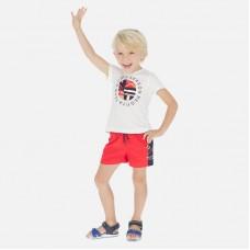 Шорты плавательные Mayoral (Майорал) для мальчика красного оттенка