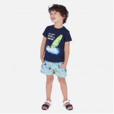 Шорты плавательные Mayoral (Майорал) для мальчика голубого оттенка