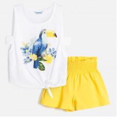 Комплект желтый Mayoral (Майорал) майка и шорты для девочки