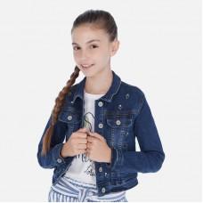 Куртка джинсовая Mayoral (Майорал) для девочки синего оттенка