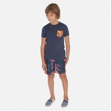 Шорты плавательные Mayoral (Майорал) для мальчика свинцового оттенка