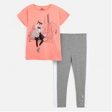 Комплект: футболка,капри Mayoral (Майорал) для девочки серый оттенок