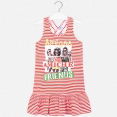 Платье Mayoral (Майорал) для девочки красного оттенка