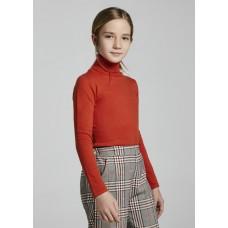 Водолазка Mayoral (Майорал) для девочки красно-оранжевый оттенок
