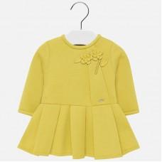 Платье Mayoral(Майорал) для девочки желто неонового цвета