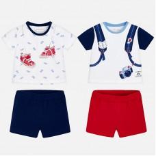 Комплект футболок и шорт для новорожденного