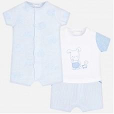 Узорчатая короткая пижама для новорожденного
